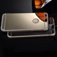Чехол-накладка на Apple iPhone 6/6S, силикон, зеркальный, золотистый