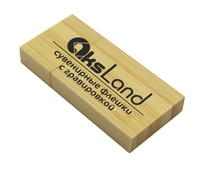 Память USB 2.0 Flash, 32GB, BiNFUL, дерево, wood №3, bamboo