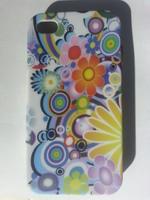 Чехол-накладка на Apple iPhone 4/4S, силикон, paint flowers 2