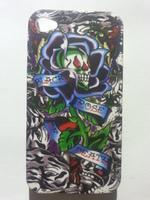Чехол-накладка на Apple iPhone 4/4S, пластик, матовый, black rose