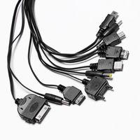 Набор кабелей, 10 в 1, micro, mini, samsung, nokia, iphone, lg