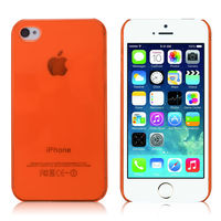 Чехол-накладка на Apple iPhone 4/4S, пластик, глянцевый, оранжевый
