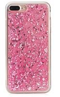Чехол-накладка на Apple iPhone 6/6S, силикон, блестящий, фольгир, розовый