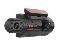 """Видеорегистратор с салонной камерой BRAND, FHD, 3.0"""", инфр. подсветка, черный"""