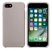 Чехол-накладка на Apple iPhone 6/6S Plus, силикон, original design, микрофибра, с лого, серый