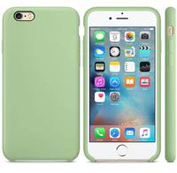 Чехол-накладка на Apple iPhone 6/6S Plus, силикон, original design, микрофибра, с лого, зеленый