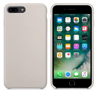 Чехол-накладка на Apple iPhone 5/5S, силикон, original design, микрофибра, с лого, бежевый