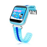 Смарт-часы Q750, детские, Sim, LCD, GPRS, Wi-Fi, GPS, голубой