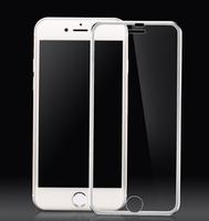 Защитное стекло Apple iPhone 6/6S 3D, окантовка на дисплей, серебристый