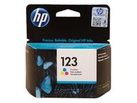 Картридж струйный HP 123, цветной