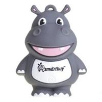Память USB 2.0 Flash, SmartBuy, Wild series Hippopotamus, 8 Gb