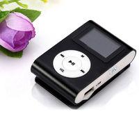 MP3-плеер с дисплеем, клипса, microSD, (без кабеля, без наушников), черный