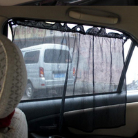 Автомобильная шторка, 52*80см, на присосках, комплект 2 шт, черный