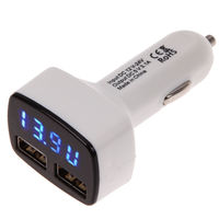 Автомобильное зарядное устройство USB, Noname, 3А, 2xUSB, мультитестер