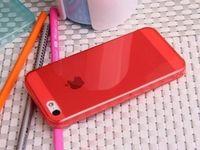 Чехол-накладка на Apple iPhone 5/5S, силикон, глянцевый, красный