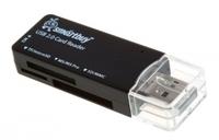 Карт-ридер, USB 2.0, Smartbuy SBR-749-K, Micro SD, MS Pro, MS, SD, M2, черный
