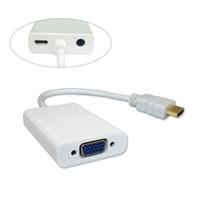 Переходник видео HDMI->VGA, AUX, внешнее питание microUSB