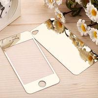 Цветное защитное стекло для Apple iPhone 4/4S комплект, золотистый
