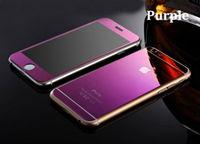 Цветное защитное стекло для Apple iPhone 6/6S комплект, фиолетовый