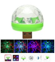 Светодиодная диско лампа, вращающаяся, RGB, USB, мини