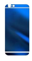 Наклейка на Apple iPhone 5/5S, аллюминий, синий