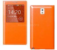 Чехол-книжка на Samsung S5 полиуретан, оранжевый