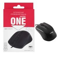Мышь проводная, Smart Buy 352 SBM-352-K, оптическая, 3кн, черный