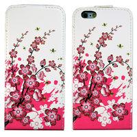 Флип-кейс на Apple iPhone 6/6S, кожа, магнитный с язычком, flowers