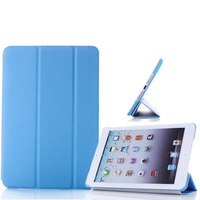 Чехол Smart-cover для Apple iPad mini 1,2,3, полиуретан, голубой