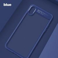 Чехол-накладка на Apple iPhone 6/6S Plus, силикон, прозрачный, бампер, синий