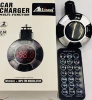 FM-модулятор, KCB-903, Bluetooth, microSD, 1xUSB, aux, пульт