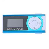 MP3-плеер с дисплеем, microSD, с фонариком, (без кабеля, без наушников), голубой