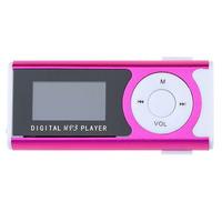 MP3-плеер с дисплеем, microSD, с фонариком, (без кабеля, без наушников), розовый