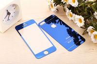 Цветное защитное стекло для Apple iPhone 5/5S/SE комплект, синий
