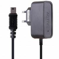 Сетевое зарядное устройство miniUSB, Active, 1А, черный