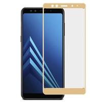 Защитное стекло для Samsung Galaxy A8 (2018) на дисплей, с рамкой, золотистый