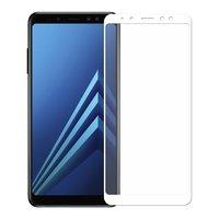 Защитное стекло Samsung Galaxy A8 (2018) на дисплей, с рамкой, белый