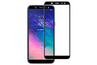 Защитное стекло для Samsung Galaxy A6 Plus (A605) (2018) на дисплей, с рамкой, черный