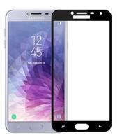 Защитное стекло Samsung Galaxy J4 (2018) на дисплей, с рамкой, черный