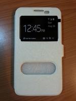 Чехол-книжка на Samsung S3 полиуретан, S-view, магнит, белый