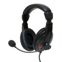 Гарнитура проводная, 3,5мм, игровая, Dialog M-750HV, полноразмерная, черный