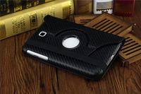 Чехол Smart-cover для Samsung Galaxy Tab 3 7.0, полиуретан, карбон, черный