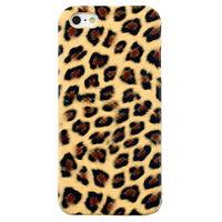 Чехол-накладка на Apple iPhone 5/5S, пластик, леопардовый