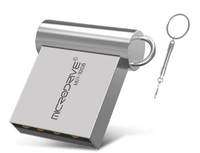 Память USB 2.0 Flash, 8GB, MicroDrive, мини, серебристый