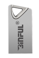 Память USB 2.0 Flash, 16GB, BiNFUL, металл, Style 2, серебристый
