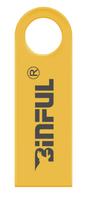 Память USB 2.0 Flash, 32GB, BiNFUL, металл, style 3, золотистый