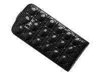 Флип-кейс на Apple iPhone 5/5S, кожа, Dior, черный