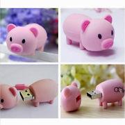 Память USB 2.0 Flash, поросенок, розовый, 8 Gb