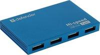 USB-хаб 2.0, Defender SEPTIMA SLIM, 7 портов, с адаптером, черный