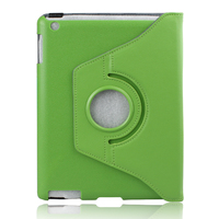 Чехол Smart-cover для Apple iPad 2/3/4, кожа, вращающийся, зеленый